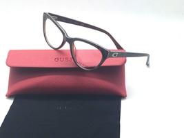 Auténtico Guess GU2554-050 Marrón Oscuro Gafas Armazón 52/17/135 Nuevo - $29.90
