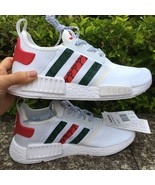 womens adidas nmd N 105 gucci sneakers white color custom athletic shoes - $109.00