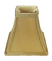 Urbanest Square 5-inch Softback Bell Chandelier Lamp Shade, Gold, Faux Silk, Cli - $9.89