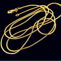 16/18/20/22/24/26/28/30 inch 1PC Environmental Copper Plated Gold Snake Chain Ne - $9.60