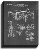 Table Tennis or Ping Pong Table Patent Print Chalkboard on Canvas - $39.95+