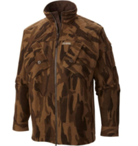 Columbia PHG Mens L Gallitan Ops Jacket Brown Camo Hunting Wool Blend - $119.95