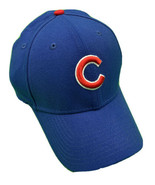 Chicago Cubs New Era 39Thirty Baseball Cap Size Med-Lrg Blue MLB - $9.90