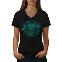 Mask Samurai Art Fantasy Shirt Mask Face Women V-Neck T-shirt - $12.99+