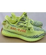Adidas Yeezy Boost 350 V2 Semi Frozen Yellow B37572 Size 9 - 100% AUTHENTIC - $296.99