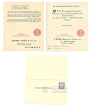 3 Paid Reply Postal Cards UY11 Preprinted Advertising UY17 FDC Folded - $6.99