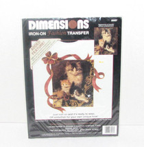 "Dimensions Iron-on Fashion Transfer ""Her Majesty's Kittens"" 1992 - $9.98"