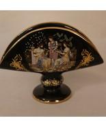 Fakiolas 24K Gold Napkin Holder Vase Athens Greece Vintage 1970s - $19.99