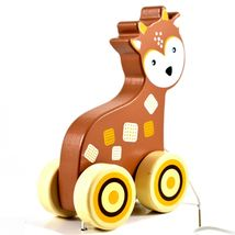 Applesauce Deer Baby Wooden Pull Toy for Toddlers Children Ages 12+ Month image 10