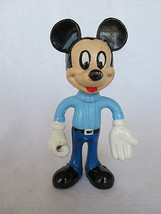 """Vintage Mickey Mouse Rubber toy Figures Play Toy 4"""" - ₹719.76 INR"""