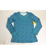 NWT Roxy Snow 1st Base Layers XL Plain Jane Caribbean Sea Top Shirt Womens - $26.99