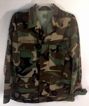 US Army Camouflage Jacket, 101st Airborne Division Patch, Size Medium Re... - $23.71