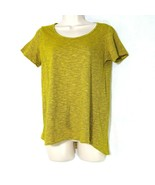 LulaRoe Classic T Top T-shirt Women Size XS Yellow Black Striped Short S... - $12.86