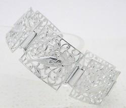VTG GERMANY Signed Silver Tone Starfish Fish Filigree Bracelet - $19.80
