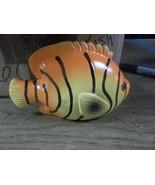 Orange ceramic fish nautical decorative eye catching new great gift<> - $4.99