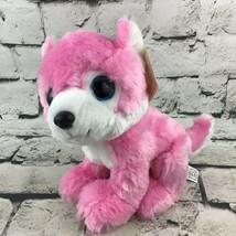 Great Wolf Lodge Pink Wolf Plush Sitting Stuffed Animal Soft Toy By Fiesta - $14.84
