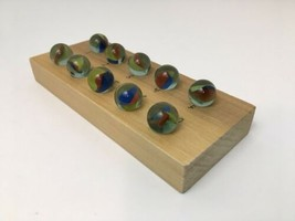 Vintage Marble Game Elimination Handmade With Instructions - $19.75