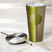 Starbucks Stainless Cold Cup Tumbler Gradient Green /2014 - $29.95