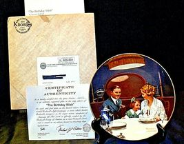 """1984 """"The Birthday Wish"""" by Norman Rockwell Plate with Box ( Knowles ) AA20-CP21 image 3"""