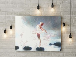 Home decor digital painting of ballerina, available for download after p... - $4.20