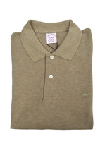Brooks Brothers Mens Heather Beige Original Fit Cotton Polo Shirt Sz XL 3204-4 - $55.07