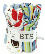 Baby Gift Bib Bouquet 4-pc Set Sports Theme TREND LAB Little MVP #102625 - New - $14.11