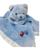 Gerber Baby Blue Bear Lovey Soft Fleece Security Blanket Satin Edge Truc... - $12.99