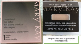 Mary Kay Magnetic Compact Mini NIB - Unfilled  NEW IN BOX & Gold Coast Eyeshadow - $10.69