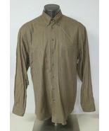 Mens Scott Barber Dress Shirt Long Sleeve Button Front Brown Houndstooth... - $19.79