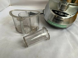 Cuisinart Custom Prep 9 Food Processor Parts, Pusher & Sleeve CLEAN CLEAR - $42.25