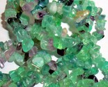 Natural Rainbow Fluorite beads Chip nugget shape drilled 34in strand Bead supply - $4.25