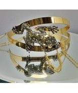 ALEXIS BITTAR CRYSTAL ENCRUSTED FROG CHOKER WITH DRIPPY CHAINS NECKLACE,... - $242.55