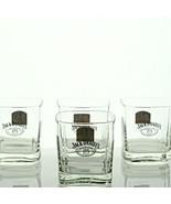 4 JACK DANIELS OLD NO. 7 Glass 1913 GOLD MEDAL BELGIUM Lowball Rocks Squ... - $24.74
