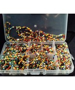 1000 PC.GLASS MULTI-COLOR SEED BEADS-Perfect For Crafts &JEWELRY MAKING ... - $9.72