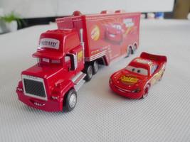 Disney Pixar Cars Mack Hauler Truck & NO.95 McQueen Metal Toy Cars New L... - $28.00