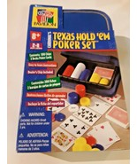 TEXAS HOLD'EM TOURNAMENT POKER SET-CARDINAL'S IN TRAVEL CASE - SEALED -NEW - $17.81