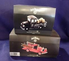"Dept. 56 Lot of Two Jack Daniels Trucks ""Old #7 Fire Brigade"" & ""Deliver... - $65.45"
