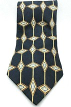 BILL BLASS Black Label Men's Blue Diamond 100% Silk Tie Necktie - $8.90