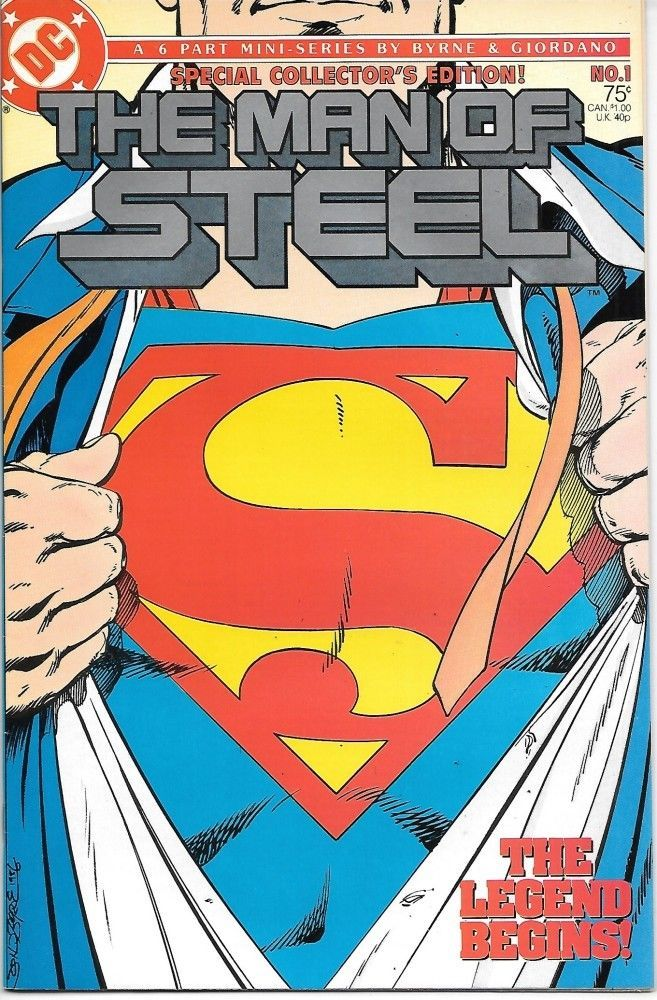 Primary image for The Man of Steel Comic Book #1 Superman Collector's Ed. DC 1986 VFN/NEAR MINT