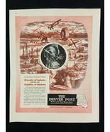 The Denver Post Magazine Ad 10.75 x 13.75 Ritepoint Pencil Fisher Radio - $9.89