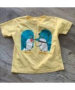 Wittlebee Musick Penguins Threadless T Shirt 4T Yellow Tee Toddler Crew ... - $6.80