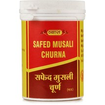 Vyas SAFED MUSALI CHURNA 50 Grams Safed Musli Powder Restores Energy & S... - $7.61+