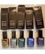 Avon Mosaic Effects Nail Enamel CHOICE Silver Gold Green Blue Plum White... - $12.99