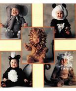 Toddlers Skunk Lion Monkey Elephant Panda Halloween Costume Sew Pattern ... - $13.99