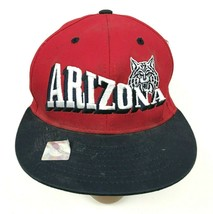 VINTAGE Arizona Wildcats Hat Cap Red Snapback Adult One Size Embroidered 90's - $17.83