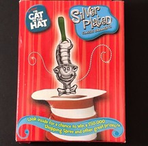 Dr Seuss Cat In The Hat Christmas Ornament Silver Plated Metal 2003 The ... - $9.99