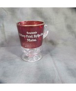 Antique Kittery Point By The Sea (Maine) Ruby Flash Mug, ca 1880 - $18.69