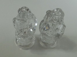 Gorham Holiday Traditions Santa Salt & Pepper Shaker Set Clear Crystal G... - $19.68