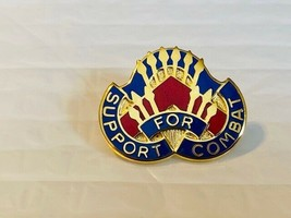 US Military 363rd Support Battalion Insignia Pin - Support for Combat - $10.00