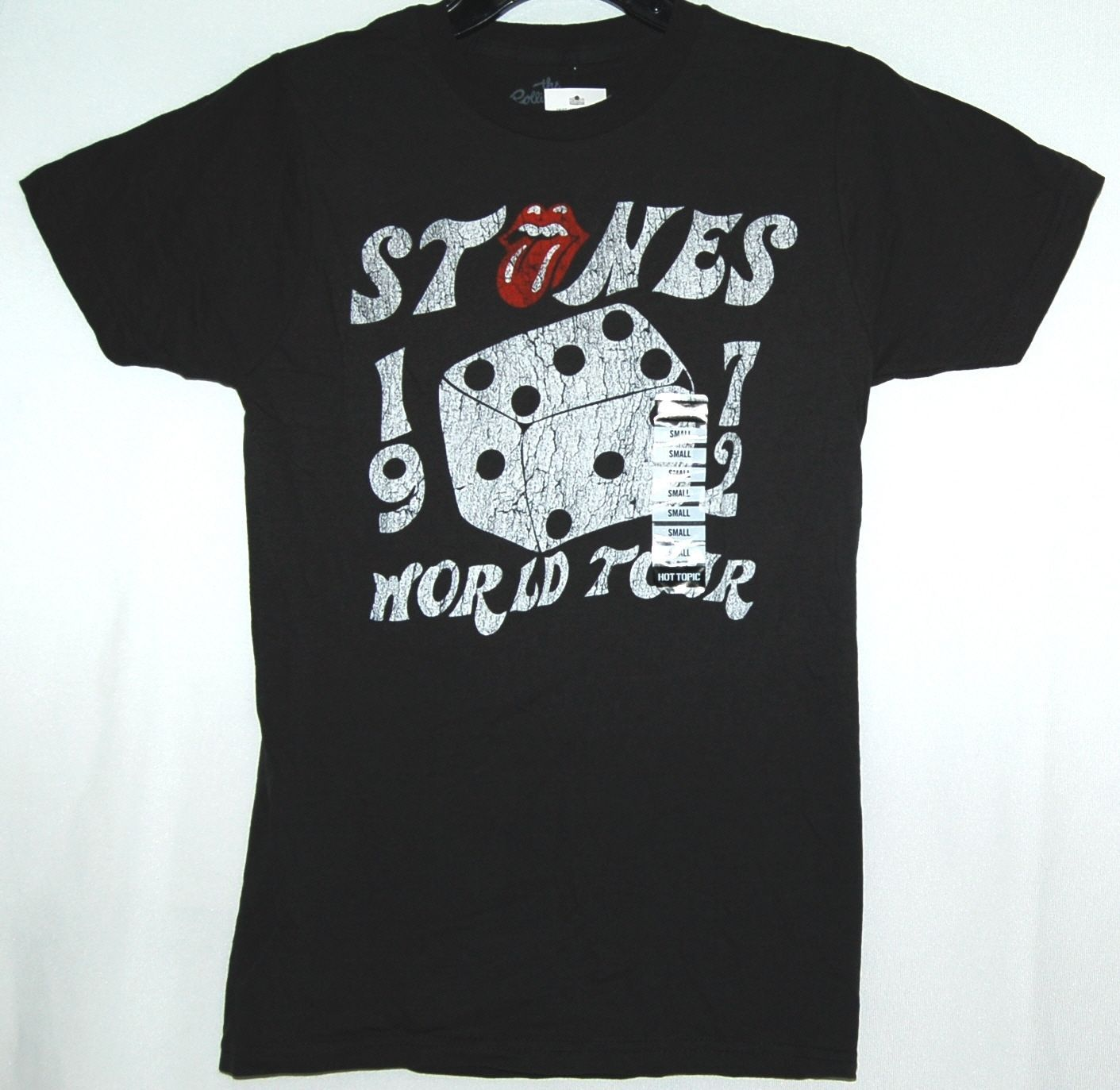The Rolling Stones World Tour 1972 Size Small Color Soft Black